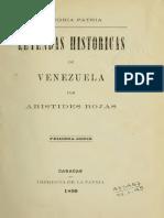 Rojas Aristides - Leyendas Historicas De Venezuela (1890).PDF