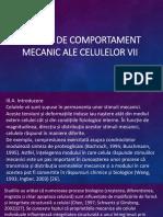 MODELE DE COMPORTAMENT MECANIC ALE  CELULELOR VII