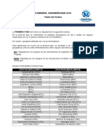 Pauta Sorteo Sudamericana 2019