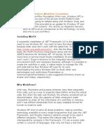 Starting With Windows Workflow Foundation