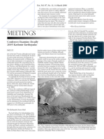 Conferees Examine Deadly 2005 Kashmir Earthquake