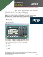 Nikon TrainBultn DTM-NPL Simulator