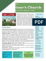 st saviours newsletter - 20 january 2019