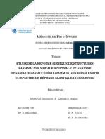 Reponse Analyse Dynamique de La Réponse d'Une Structure RPA99