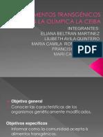 Los Alimentos Transgénicos en La Olímpica La Ceiba