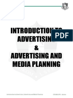 Course - Introduction to Advertising & Advertising and Media Planning