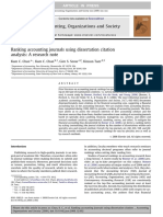 Ranking Accounting Journals Using Dissertation Citation Analysis-A Research Note
