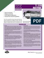 Caja de Cambio Características T318