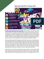 Kumpulan Situs Poker IDN PLAY Terbaru 2019