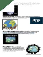 GEOGRAFIA FISICA Es La Ciencia de La Tierra Que Estudia El Medio Físico