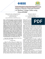 Numerical Simulation of Electric Field