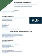 Listado de Cursos de Actualización y Perfeccionamiento Profesional Para El Ciclo Lectivo 2018