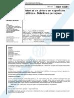 Nbr-14951 - Defeitos e Coreções