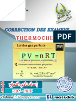 Examens Corrigés Thermochimie FS El Jadida