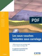 CSTB_Guide Pratique_sous Couche Isolante