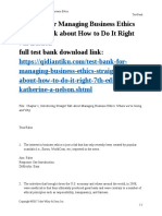 Managing Business Ethics Straight Talk about How to Do It Right 7th Edition  by Katherine A Nelson test bank