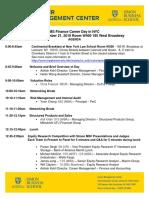 MS Finance Career Day September 21 2018 Agenda as of September 20 2018(1)