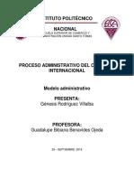 Modelo Administrativo. PROCESO ADMINISTRATIVO GénesisRodriguezvVillalba
