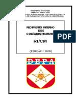 Regimento Interno Dos Colegios Militares RICM