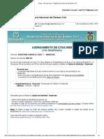 Gmail - Cita Reservada - Registraduría Nacional Del Estado Civil