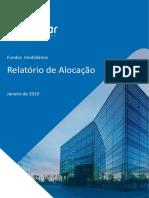Fundos Imobiliários relatório janeiro 2019