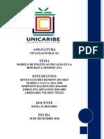 MODELO DE POLÍTICAS FISCALES EN LA REPÚBLICA DOMINICANA