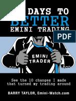 10 Days to Better Emini Trading Emini Watch