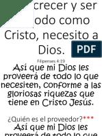 Para ser en todo como Cristo necesito a DIOS