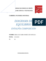 DIAGRAMA ENTALPIA COMPOSICION