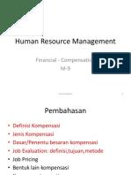 HRM Financial Compensation