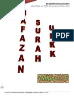 SURAH HAFAZAN UPKK