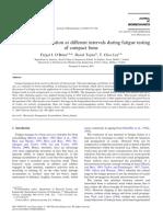 Acumulacion de Microgrietas a Diferentes Intervalos Durante Las Pruebas de Fatiga de Hueso Compacto