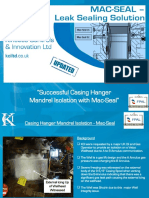 KCI Casing Hanger Mandrel Seal Isolation With Mac Seal