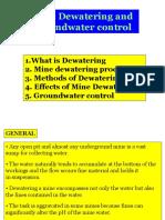 1. Mine Dewatering