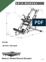 TuffStuff RLP-200 Leg Press Hack Squat