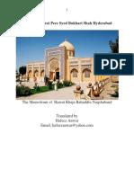 Biography  of  Hadrat Peer  Syed Bukhari Shah Hyderabad
