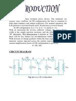 Physics Investigatory Project Common Base Transistor
