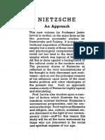 Janko Lavrin - Nietzsche - An Approach