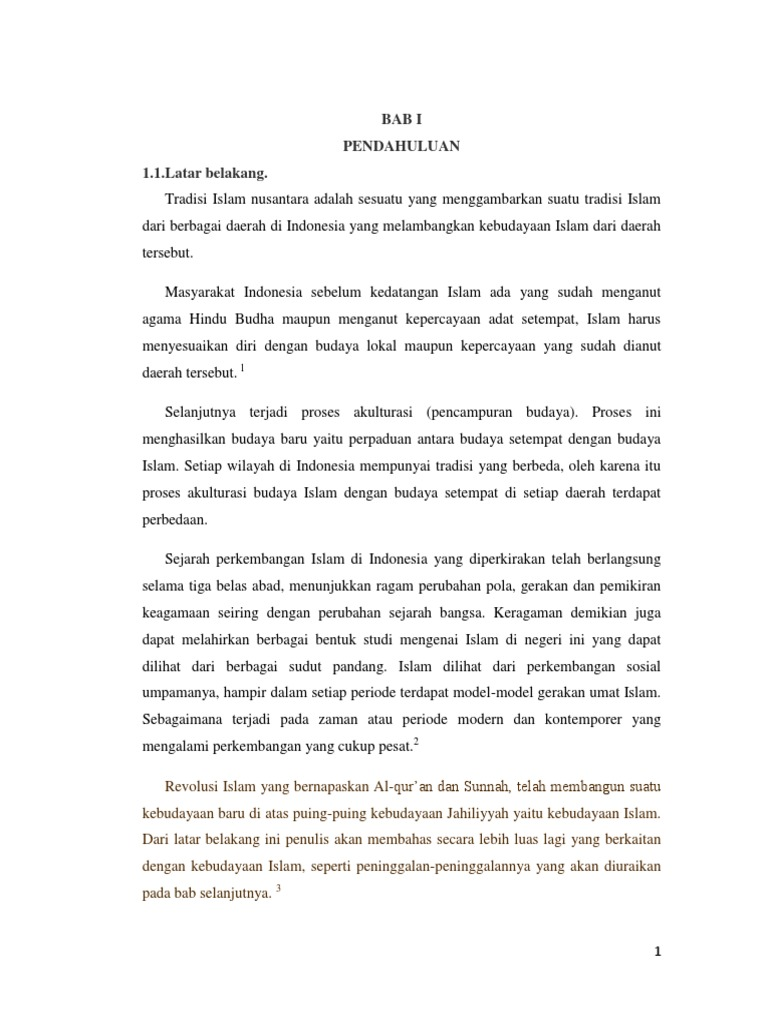 Makalah Budaya Lokal Nusantara