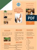 Leaflet rebusan daun salam untuk hipertensi