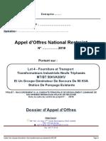 Cahier de Charge Transfo Et Groupe