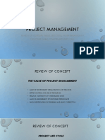 Project Management Review Notes