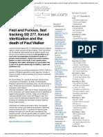 FULLERTON INFORMER Forced Sterilization and the Death of Paul Walker « TheFullertonInformer.com