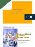 I. Methods of Brand Valuation FischerFnb