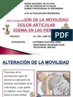Alteracion De La Movilidad, Dolor Articular & Edema En Las Piernas.ppt