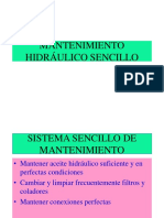 MTTO HIDRÁULICO SENCILLO