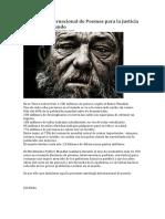 Antología Internacional de Poemas Para La Justicia Social en El Mundo