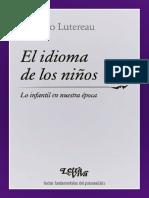 El Idioma de Los Ninos Luciano Lutereau PDF