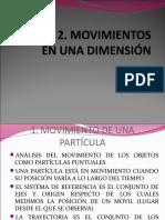 Movimiento 1 Dimension Ecuaciones