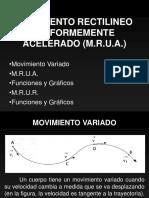 MRUA MRUR Graficos Funciones
